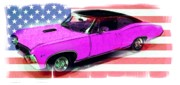 American Flag Mixed Media - American Muscle by Gra Howard
