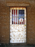 Old Door Digital Art Prints - American Native Finger Prints Print by Kurt Van Wagner