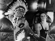 Headdress Photos - American Olympic Athletes Jim Thorpe by Everett