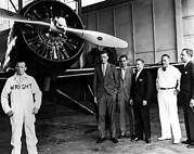 American Pilot Charles Lindbergh Print by Everett