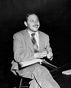 Candid Portraits Prints - American Playwright Tennessee Williams Print by Everett