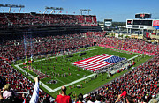 Tampa Bay Prints - American pride Bucs style Print by David Lee Thompson