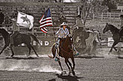 Cowgirl Mixed Media - American Pride by Cheryl Cencich
