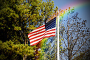 Flag Pole Digital Art - American Pride by Kelly Rader