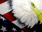 American Eagle Paintings - American Pride by Melissa Torres