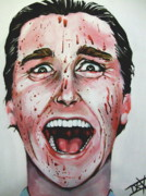 Blood Painting Originals - American Psycho by Danielle LegacyArts