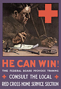 First World War Posters - American Red Cross Poster by War Is Hell Store