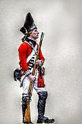 Americans Digital Art Metal Prints - American Revolution British Soldier  Metal Print by Randy Steele