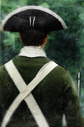 Re-enactor Prints - American Revolution Minuteman Print by Jill Battaglia