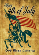 Fourth Of July Digital Art Posters - American revolution soldier general American revolution soldier general  Poster by Aloysius Patrimonio