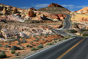 Valley Of Fire Framed Prints - American Roadtrip Framed Print by Achim Thomae