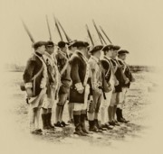 Fort Digital Art Framed Prints - American Soldiers at Fort Mifflin Framed Print by Bill Cannon