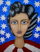 Bold Abstact Paintings - American Soul  by Claudia Tuli