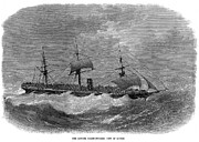 1870 Photos - American Steamship, 1870 by Granger