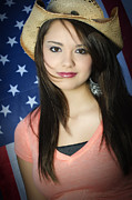4th July Photo Originals - American Teenage Girl by Andre Babiak