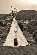 Western Western Art Framed Prints - American Tepee Framed Print by James Bo Insogna