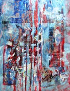 Red White And Blue Mixed Media - American Tribute by David Raderstorf