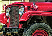 Jeep Framed Prints - American Willys Framed Print by Adam Vance