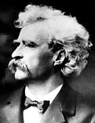 Samuel Framed Prints - American Writer Mark Twain, Aka Samuel Framed Print by Everett