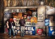 Food Vendors Prints - Americana - Food - Hot dogs and Funnel cakes Print by Mike Savad