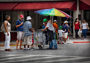 July 4th Photos - Americana - Mountainside NJ - Buying Ices  by Mike Savad