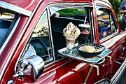 Oldies Prints - Americana - The Car Hop Print by Paul Ward