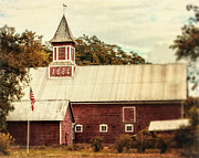 Weathervane Photo Prints - Americana Barn Print by Lisa Russo