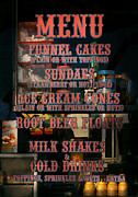 Fun Posters - Americana - Food - Menu  Poster by Mike Savad