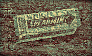 Restaurant Sign Prints - Americana Gum on Brick Print by Tony Grider