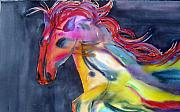 Horse Paintings - Americano by Maritza Bermudez