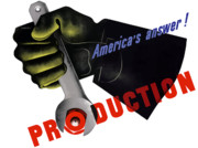 Military Production Posters - Americas Answer Production  Poster by War Is Hell Store
