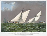 Puritan Framed Prints - Americas Cup, 1885 Framed Print by Granger