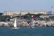 Alcatraz Prints - Americas Cup in San Francisco - China Firefall - 7D18334 Print by Wingsdomain Art and Photography