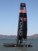 San Francisco Bay Prints - Americas Cup in San Francisco - Oracle Team USA 5 - 5D18246 Print by Wingsdomain Art and Photography