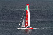 Italian Flag Posters - Americas Cup in San Francisco - Italy Luna Rossa Paranha Sailboat - 7D19041 Poster by Wingsdomain Art and Photography