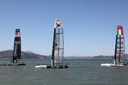 Luna Prints - Americas Cup Racing Sailboats in The San Francisco Bay - 5D18237 Print by Wingsdomain Art and Photography