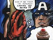Sweets Painting Acrylic Prints - Americas Problem - Captain America Acrylic Print by Ryan Jones