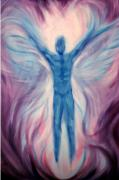 Visionary Art Paintings - Amethyst Angel by Holly Stone