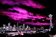 Purple Clouds Prints - Amethyst City Print by Benjamin Yeager