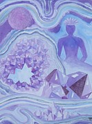 Meditation Paintings - Amethyst Crown Chakra by Jennifer Baird