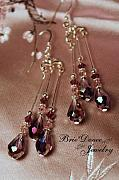 Dangles Jewelry - Amethyst Crystal Trio Chandelier Earrings by Carrie Windsor