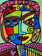 Hamas Paintings - Amethyst Cubist Angel by Sandra Silberzweig