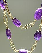 Handcrafted Jewelry Originals - Amethyst Goddess Linked Strand by Adove  Fine Jewelry