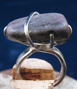 Ring Jewelry - Amethyst in Silver Ring by Deborah Haste