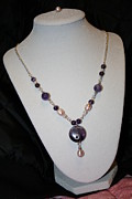 Christina A Pacillo - Amethyst Pearl Necklace