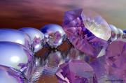 Pearls Digital Art - Amethysts and Pearls by Sandra Bauser Digital Art