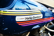 Harley Davidson Photos - Amf Harley Davidson Gas Tank by Paul Ward