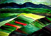 Vibrant Pastels Originals - Amherst Plains by Linda Hubbard Red Cap Art