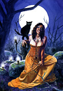 Vampires Prints - Amia Print by Ken Meyer jr