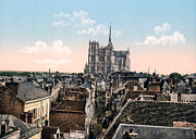 Amiens Metal Prints - Amiens - France - View from the Belfrey Metal Print by International  Images